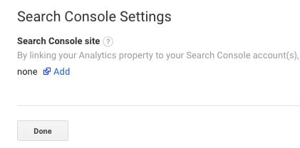 Verlinken von Google Analytics und Google Search Console