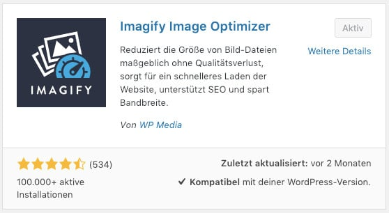 Das WordPress-Bild-Optimierungs-Plugin Imagify